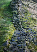 Damaged dry stone wall in the Peak District National Park, England — Stock Photo