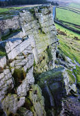 Windgather climbing rocks in the Peak District National Park, England — Stock Photo