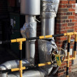 Stock Photo: Steam and condensate valves