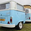 Stock Photo: Retro vwith matching trailer