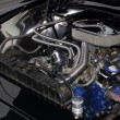 Chromed engine — Stock Photo