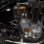 Detail of old motorbike engine — Stock Photo