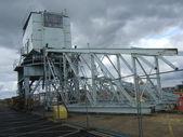Crane dismantling — Stock Photo