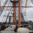 Hms warrior portsmouth naval dockyards - Stock Photo