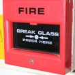 Stock Photo: Industrial fire alarm