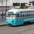 The famous tram cars of San Francisco, 2nd april 2013 - Stock Photo