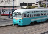 The famous tram cars of San Francisco, 2nd april 2013 — Stock Photo