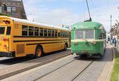 Die berühmte straßenbahn-wagen von san francisco, 2. april 2013 — Stockfoto