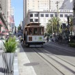 The famous cable cars of San Francisco, 2nd april 2013 — Stock Photo