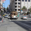 Famous cable cars of SFrancisco, 2nd april 2013 — Stock fotografie #23864325