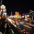 Las Vegas strip at night — 图库照片