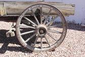 Old vintage cart wheel — Stock Photo