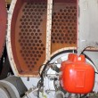 Industrial steam boiler — ストック写真
