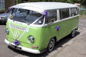 Vw wedding van — Stock Photo