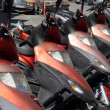 Stock Photo: Mopeds for hire