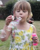 Blowing bubbles — Stock Photo