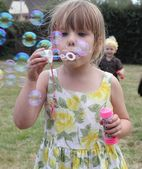 Blowing bubbles — Photo