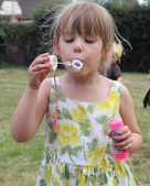 Blowing bubbles — Foto Stock