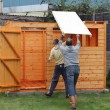 Stock Photo: Building wooden shed