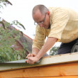 Building a wooden shed — Stock Photo #32497501