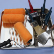 A painter and decorators equipment — Stock Photo