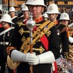 The royal marines marching band — Stock Photo
