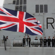 Stock Photo: HMS Illustrious returns from philippines