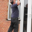 Window fitter at work — Stock Photo