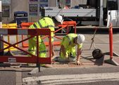 Repairing the pavements — Stock Photo
