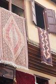 Kolorowe tkaniny i tekstylia — Zdjęcie stockowe