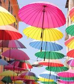 Artistic umbrellas — Stock Photo