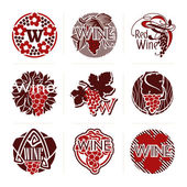Set of wine labels and badges. Vector labels — Stock Vector