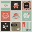 Restaurant menu designs. Retro-styled illustration. - Imagen vectorial