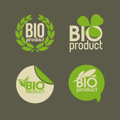 Bio product labels and badge vector illustration — Stock Vector