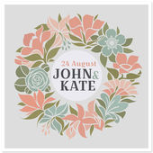 Floral wreath - vector wedding design — Vettoriale Stock