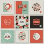 Restaurant menu designs. Collection of retro-styled vector illus — Stock Vector