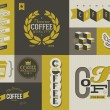 Coffee labels and badges. Collection of vector design elements. - Stock vektor