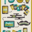 Hipster cafe menu. Set of design elements — Stock Vector