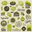 etiquetas de los productos orgánicos naturales, emblemas e insignias. conjunto de elementos de diseño vectorial — Vector de stock