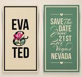 Vintage bruiloft kaart met roze tulp. Vectorillustratie — Stockvector