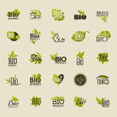 Bio product. Set of vector labels and emblems — Stock Vector