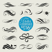 Set of decorative design elements and page decor. Vector illustration — Stock Vector