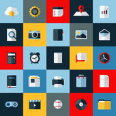 Modern flat vector icons set of universal elements for web and mobile — Vettoriale Stock