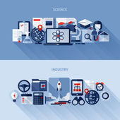 Flat vector design elements of science and industry — Stock Vector