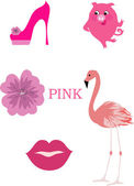 Pink objects — Stock Vector