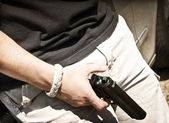 Armed Man — Stock Photo