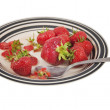 Plate Of Strawberries — Stockfoto