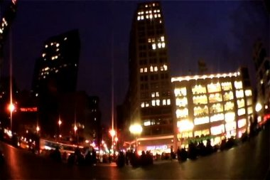 Union Square at Night — Stock Video