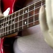 Gloved Hand Bass Player — Stock Video