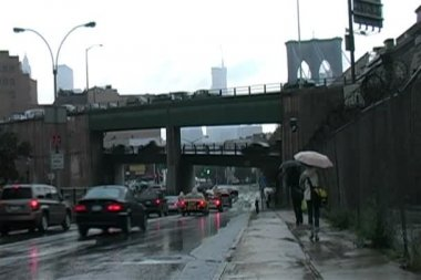 Brookyln in the Rain — Stock Video